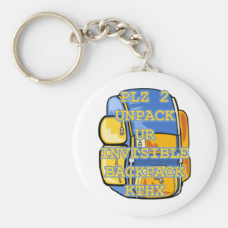 Invisible Backpack Basic Round Button Keychain