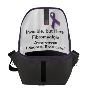 Invisible, but Here!  Fibromyalgia Awareness Messenger Bag
