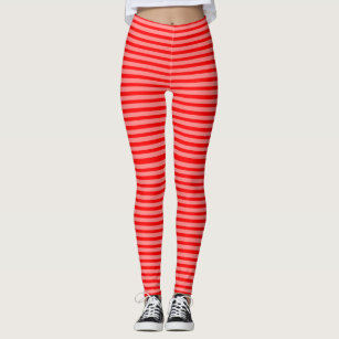 678097e81cdfc4 Invisible Cherry Candy Cane Stripes Black Light Leggings