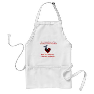Invisible Chronic Pain Red Heart Aprons