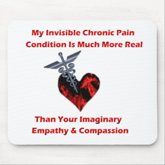 Invisible Chronic Pain Red Heart Mousepad