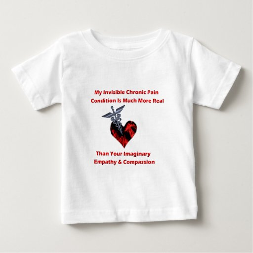 Invisible Chronic Pain Red Heart of Flames Baby T-Shirt