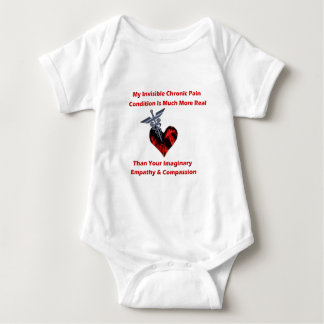 Invisible Chronic Pain Red Heart of Flames Shirt