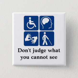Invisible Disabilities Pinback Button