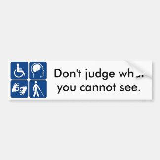 Invisible Disability Bumper Sticker