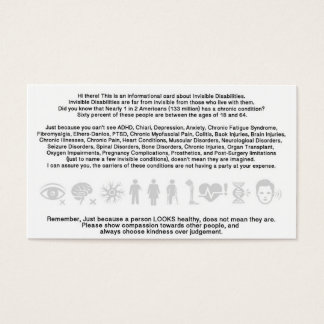 Invisible Disability Informational Card