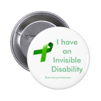 Invisible Disablility Pinback Button
