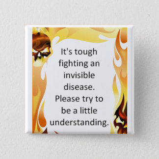 Invisible Diseases Pinback Button