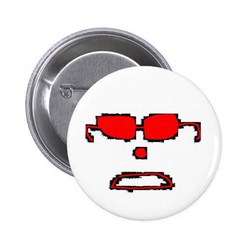 Invisible dude 2 inch round button