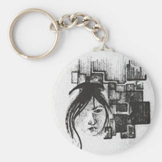 Invisible girl key chain