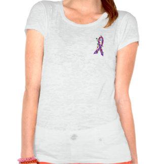 Invisible Illness Christmas Lights Ribbon T Shirts