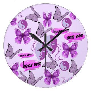Invisible Illness Collage Clocks