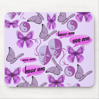 Invisible Illness Collage Mouse Pad