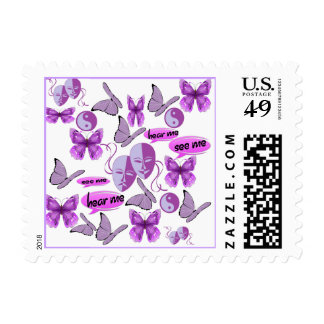 Invisible Illness Collage Stamps