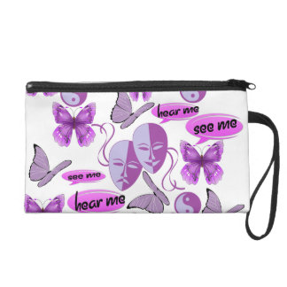 Invisible Illness Collage Wristlet