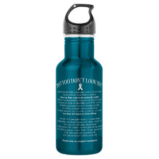 Invisible Illness Facts - water bottle