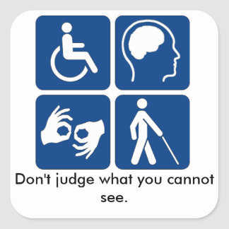 Invisible Illness, Handicap Stickers