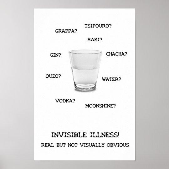 Invisible Illness Liquid Poster