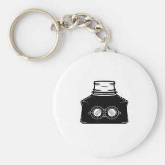 Invisible Ink Bottle Basic Round Button Keychain