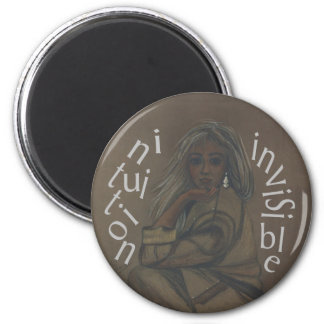 Invisible Intuition 2 Inch Round Magnet