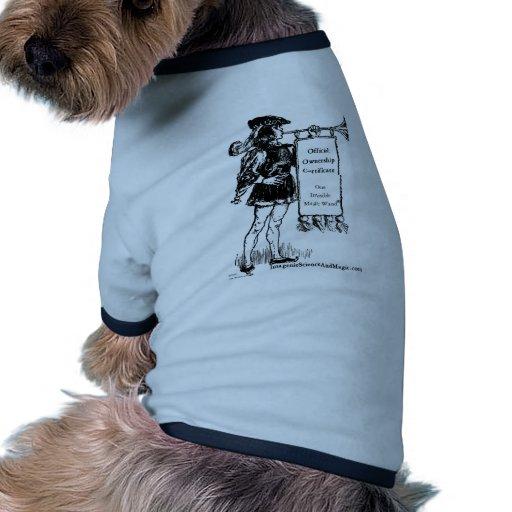 ®invisible magic wand doggie t-shirt