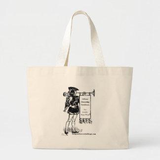 ®invisible magic wand large tote bag