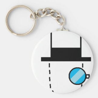 Invisible Man Basic Round Button Keychain