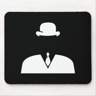 Invisible Man Pictogram Mousepad