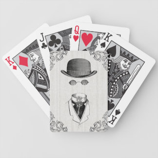Invisible Man Poker Face Vintage playing cards