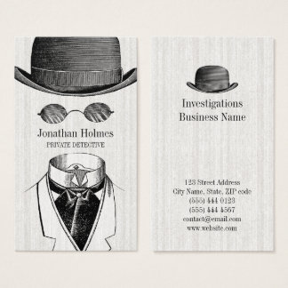 Invisible Man Private Detective business cards