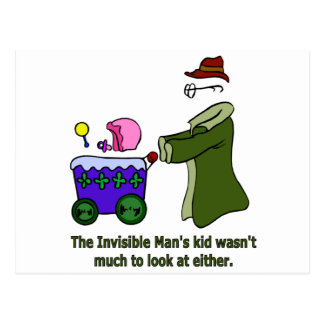 Invisible Man's Kid Wasn't Much To Look At Postcard