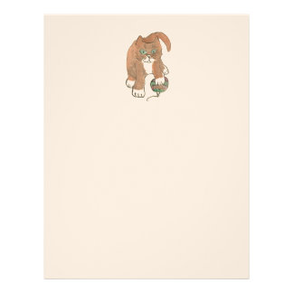 Invisible Ornament Kitten only Wishes Letterhead