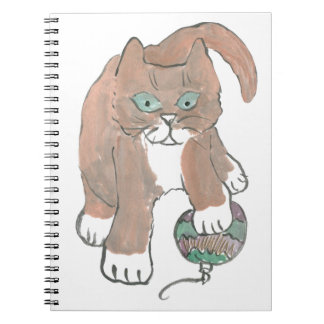 Invisible Ornament Kitten only Wishes Spiral Notebook