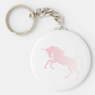 Invisible_Pink_Unicorn Basic Round Button Keychain