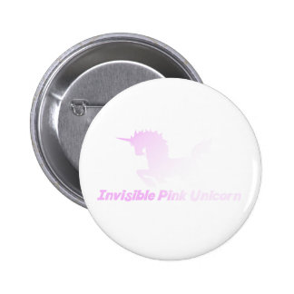 Invisible Pink Unicorn in the Sky 2 Inch Round Button