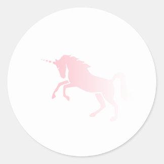 Invisible_Pink_Unicorn Classic Round Sticker