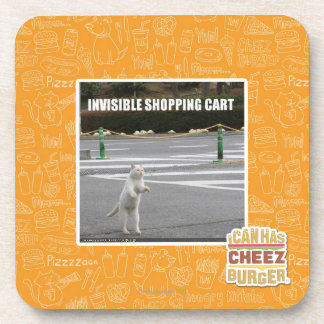 INVISIBLE SHOPPING CART BEVERAGE COASTER