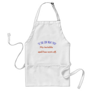 Invisible Spell Adult Apron