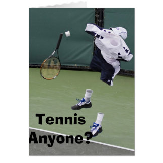 Invisible Tennis Birthday Card