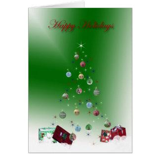 Invisible Tree Happy Holidays Card