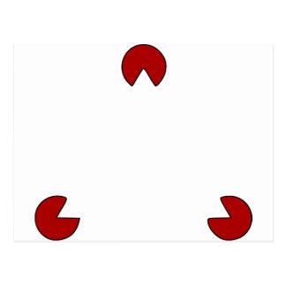 Invisible Triangle Optical Illusion Postcard