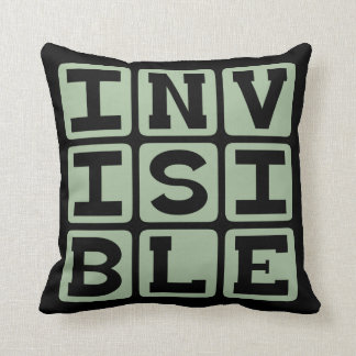 Invisible Unseen to the Bare Eye Throw Pillow