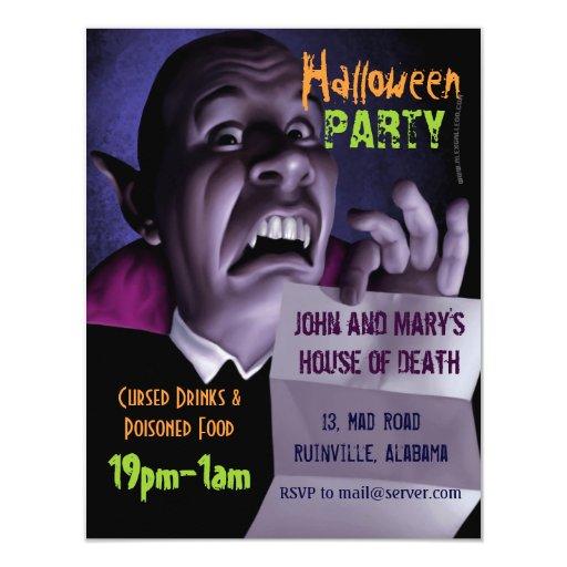 Invitación 001 del FIESTA de Halloween