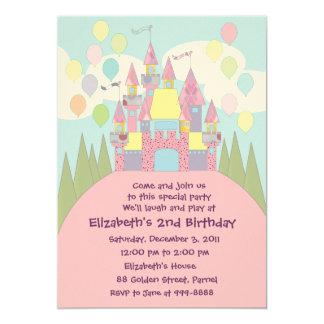 Invitación 022 del cumpleaños: Castillo