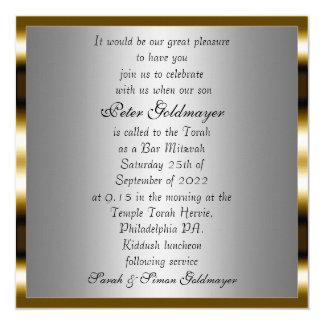 Invitación 13 de la ceremonia del oro de Mitzvah