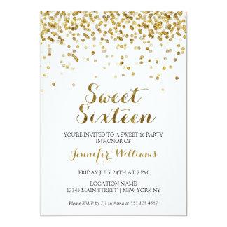 Invitación 16 del dulce dieciséis del confeti del