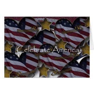 Invitación 1776 de América Tarjeta Pequeña