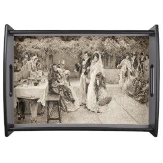Invitación 1898 del compromiso bandejas