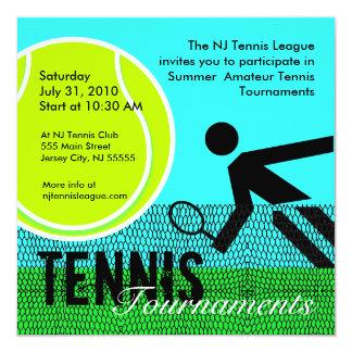 Invitación 1 de los torneos de tenis