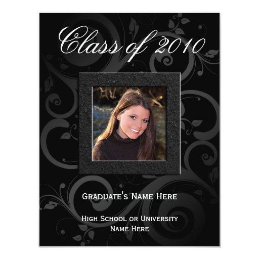 Invitación 2010 de la graduación de la foto